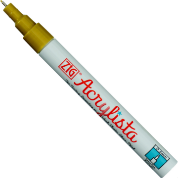 ZIG Arts & Crafts Acrylista Extra Fine Metallic Gold (PAC-10-MT101) - fémes hatású extrafinom hegyű marker, 0.5mm arany