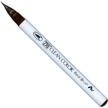 ZIG Watercolor System Clean Color Real Brush Dark Brown (RB-6000AT-062) - ecsetceruza, sötétbarna