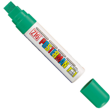 ZIG Sign Posterman Big & Broad Green (PMA-120-040) - vízálló marker, 15mm vágott zöld